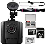 Transcend DrivePro 50 1080p HD Wi-Fi Car Dashboard Video Recorder with Suction Cup with 16GB & 32GB Cards + TS-DPK1 Hardwire Power Cable Kit