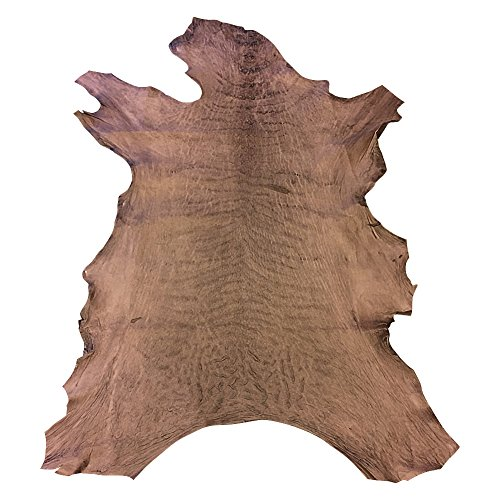 - Leather Hide from New Zealand - Full Skin - Brown Color - 5 sq ft - 2-3 oz. avg Thickness - Rustic Finish - Veg Tan Sheepskin - Improve The Look of Your Projects Now!