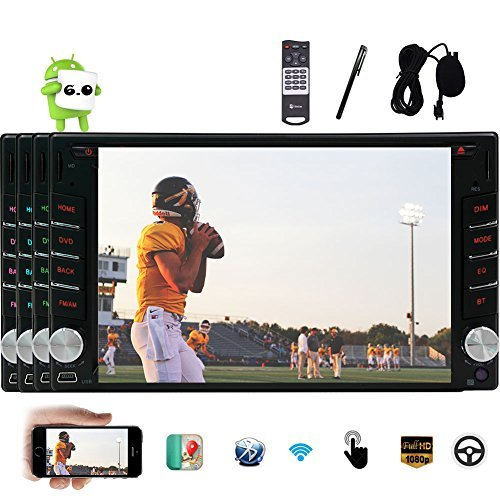Eincar 6.2 inch Android 6.0 Double Din HD Touch Screen Head