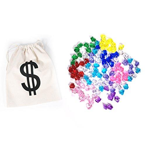 PAUBOLI Acrylic Fake Gems 1.2lbs (200pcs) + $