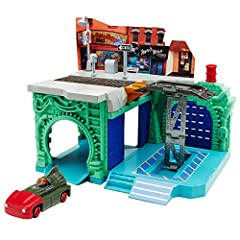 Explore the Turtles' World with the Garage & Lair set. Includes exclusive Raph in T-Rawket! Features Garage door launcher! Lift to Street Level! 2Levels of Play! Surface Street Level, Sewer Tunnel, & Underground Lair! Connect this set...
