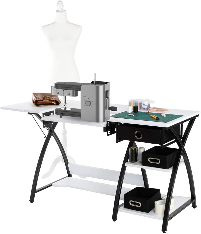 TUFFIOM 57-Inch Sewing Craft Table