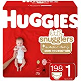 Huggies Little Snugglers Diapers, Size 1, 198 Count (Packaging May Vary)