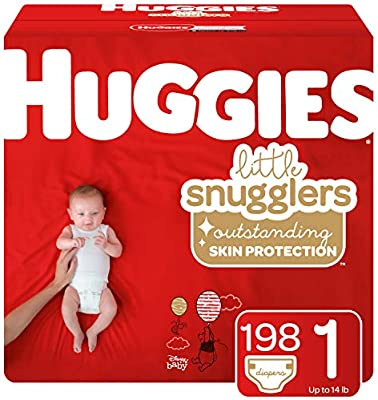 Sensitive 140 Ct /& Huggies Natural Care Unscented Baby Wipes 6 Disposable Flip-Top Packs Size 4 Packaging May Vary Huggies Little Snugglers Baby Diapers Huggies Brand Bundle 288 Total Wipes