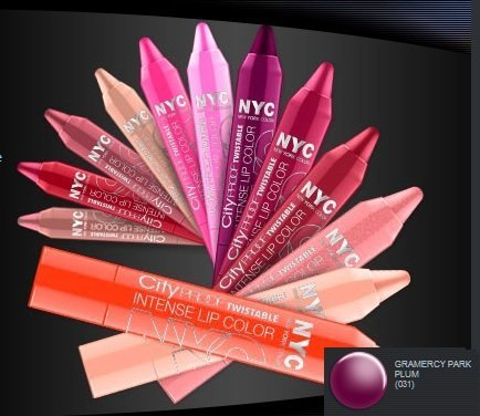 N.Y.C. City Proof Twistable Intense Lip Color - Gramercy Park Plum by - Mall City Stores Park
