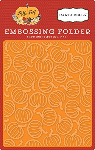 Carta Bella Paper Company CBHF70032 Embossing Folder-Pumpkin Patch