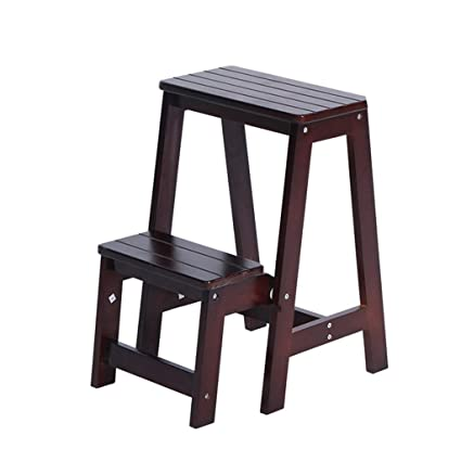 Fine Amazon Com Step Stool Fold Up 2 Steps Wooden Ladder Andrewgaddart Wooden Chair Designs For Living Room Andrewgaddartcom