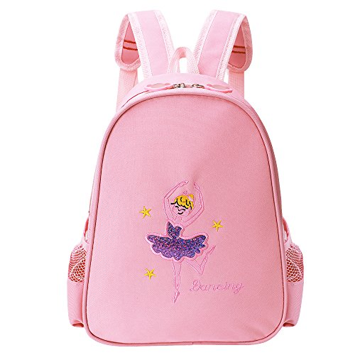 Ballet Shoe Bag - BAOHULU Toddler Backpack Ballet Dance Bag 9 Colors for Girls 2-8 Year (Pink)