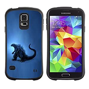 Paccase / Suave TPU GEL Caso Carcasa de Protección Funda para - Dinosaur Blue Art Painting Reptile History - Samsung Galaxy S5 SM-G900