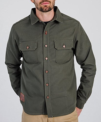 Tobacco Motorwear Kevlar California Riding Shirt (S, Moss) Kevlar Protective Clothing
