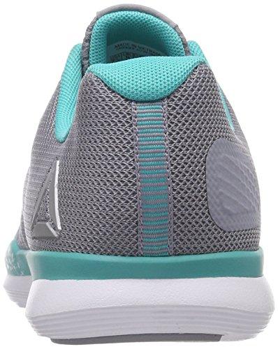 Teal 000 Pour Wht Solid Reebok cool De Tr Chaussures Shadow Femmes Fitness Sprint Gris wOHq7