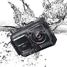 Dragon Touch 4K Action Camera 16MP 131ft Waterproof Camera Without Case Vision 5 Adjustable View Angle WiFi Sports Camera with Remote Control and Mounting Accessories Kit