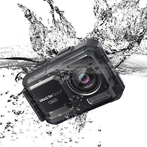 Dragon Touch 4K Action Camera Waterproof 16MP Sports Underwater Camera Adjustable View Angle WiFi with Remote Controller and Mounting Accessories Kit Vision 5