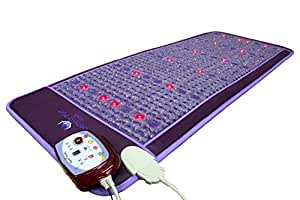 "Far Infrared Amethyst Mat - FIR Heat - Bio Magnetic Field - PEMF - Negative Ions - Red Light Photon Therapy - Natural Amethyst - FDA Registered Korean Manufacturer - Purple (Professional 73""L x 29""W)"