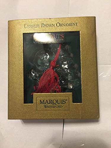 Waterford Marquis Peanuts Collection Charlie Brown Crystal Ornament