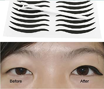 96 Pairs Lady Party Cosmetics Makeup Perfect Radian Double Eyelid Stickers  Waterproof Eyeline Sticker