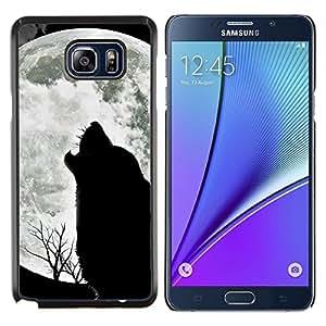 YiPhone /// Prima de resorte delgada de la cubierta del caso de Shell Armor - Lobo Acarreo Luna salvaje árboles Naturaleza Animal - Samsung Galaxy Note 5 5th N9200