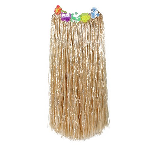Luau Party Costumes (Hawaiian Grass Hula Dancer Skirt Luau Party Costume Events Elastic Waist -)