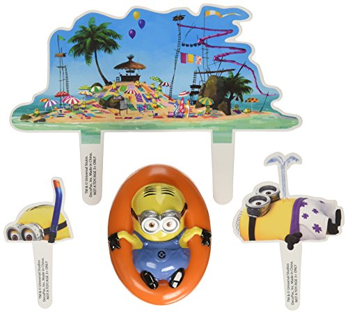Despicable Me Beach Party DecoSet Cake Decoration.]()