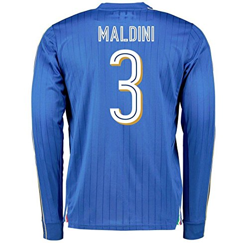2016-2017 Italy Long Sleeve Home Shirt (Maldini 3) by UKSoccershop