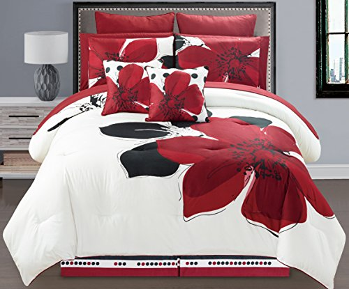 red and white comforter - 5