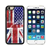 MSD Premium Apple iPhone 6 iPhone 6S Aluminum Backplate Bumper Snap Case IMAGE 21917732 USA and UK Flag painted on grunge wall