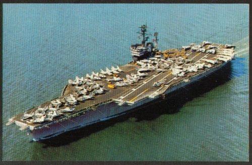 U S S America Aircraft Carrier CV-66 postcard