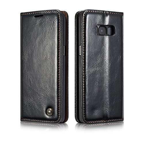 Samsung Galaxy S8 Case, Bpowe Galaxy S8 PU Leather Wallet Phone Case [Card Slot] [Flip] [Wallet] [Stand] Magnetic Closure Folio Flip Case for Samsung Galaxy S8 5.8inch
