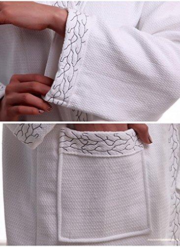 Fortuning\'s JDS® Luxus Stickerei Muster Baumwolle Bademäntel ...