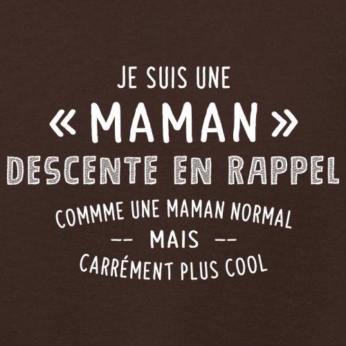 une maman normal descente en rappel - Femme T-Shirt - Maron Foncé - XXL