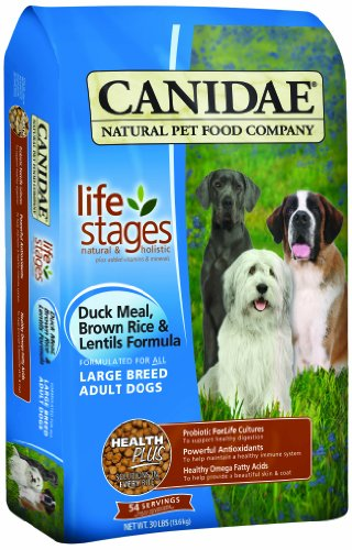 Breed Specific Formula (CANIDAE All Life Stages Large Breed Adult Dog Food Made With Duck Meal, Brown Rice & Lentils,  15)