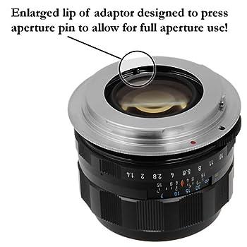 Fotodiox Pro Lens Mount Adapter - M42 Type 2 Screw Mount Slr Lens To Nikon F Mount Slr Camera Body, With Aperture Flange 3