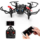 METAKOO RC Drone WiFi FPV HD Camera, Wind-Permeable Structure, 6-Axis Gyro, Altitude Hold, Adjustable Speed, Headless Mode, One Key Take-Off/ Landing, 3D Flips, VR Function, Pluggable Battery, M5