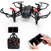METAKOO M5 RC Drone with FPV WIFi Camera and 2 Batteries, High Speed RTF Racing Drone, Portable Helicopter, Quadcopter with Altitude Hold, 3D Flips, Headless Mode and One-key Landing/Taking off