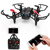 Metakoo RC Drone with WiFi FPV HD Camera, Wind-Permeable Structure, 6-Axis Gyro, Altitude Hold, Adjustable Speed, Headless Mode, One Key Take-off/ Landing, 3D Flips, VR Function, Pluggable Battery, M5