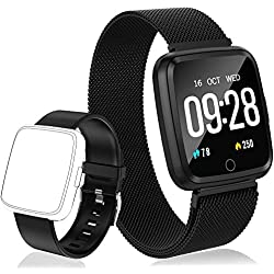 PUBU Fitness Tracker HR, Color Screen Activity Tracker Watch with Replacement Band, Waterproof Smart Watch with Heart Rate Monitor, Step Counter, Measuring Calories, Sleep Monitor, Pedometer Watch