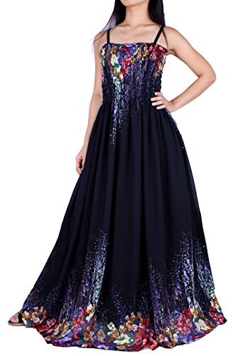 MayriDress Maxi Dress Plus Size Clothing Black Ball Gala Party Sundress Designer (Medium, Black/Colorful Floral)