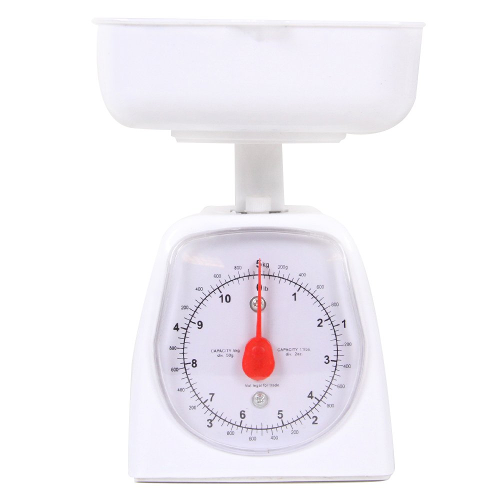 hand2mind Dual-Dial Analog Platform Scale - Simple Enough for Kids and Great with Kitchen Food by hand2mind