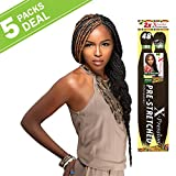 MULTI PACK DEALS! Sensationnel Synthetic Hair Braids XPRESSION 2X Pre-Stretched Braid 48' (5-PACK, 1B)