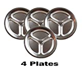Wealers Stainless Steel Plate Set - Ultra-Portable...