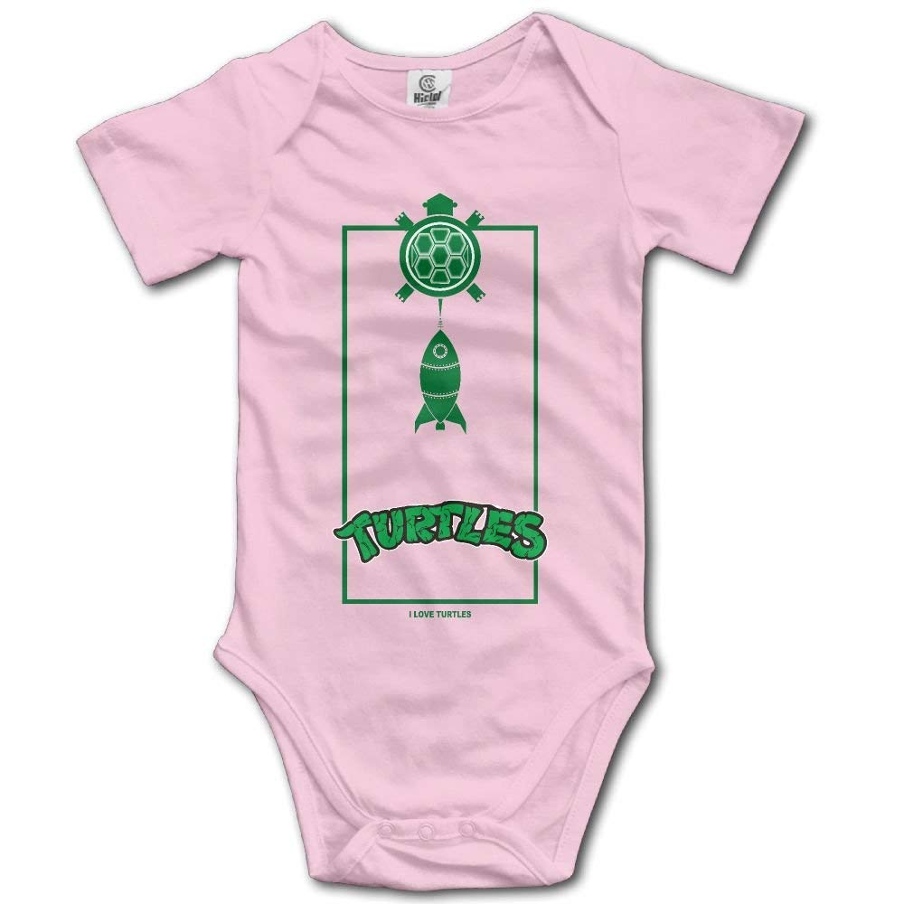I Heart Turtles Fun Cute Animals Fashion Newborn Baby Short Sleeve Romper Infant Summer Clothing Love