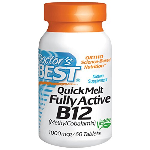 Doctor's Best, Quick Melt Fully Active B12, 1000 mcg, 60 Tablets - 2pc