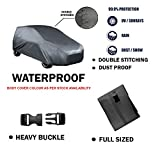 Fabtec Original Waterproof Double Stitched Black Light Weight Car Body Cover For New Tata Indica Vista (Tirpal)