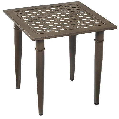 Hampton Bay Oak Cliff Metal Outdoor Side Table (Hampton Bay Table)