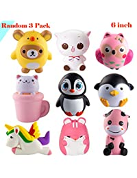 WATINC Random 3 Pcs Jumbo Animal squishy Sweet Scented Vent Charms Slow Rising squishies Kawaii Kid Toy , Lovely Stress Relief Toy, Animals Gift Fun Large BOBEBE Online Baby Store From New York to Miami and Los Angeles
