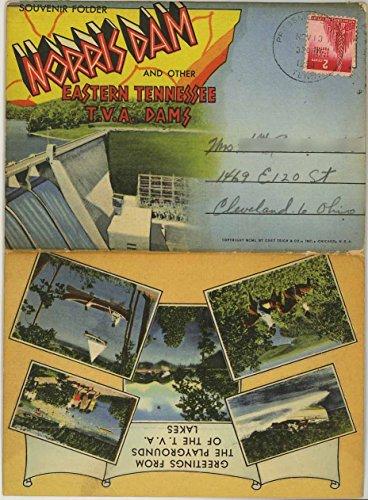 Norris Dam & Other Eastern Tennessee TVA Dams - 1950 Curt Teich Souvenir Postcard Folder #D-9528