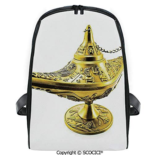 SCOCICI Casual Stylish Backpack Aladdin`s Magic Genie Lamp Wish Mystery Magic Wonder Adventure Story Inspired Art 2019 Deals! One Size