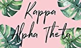 Kappa Alpha Theta - Sorority Letter Flag (Tropical Design)