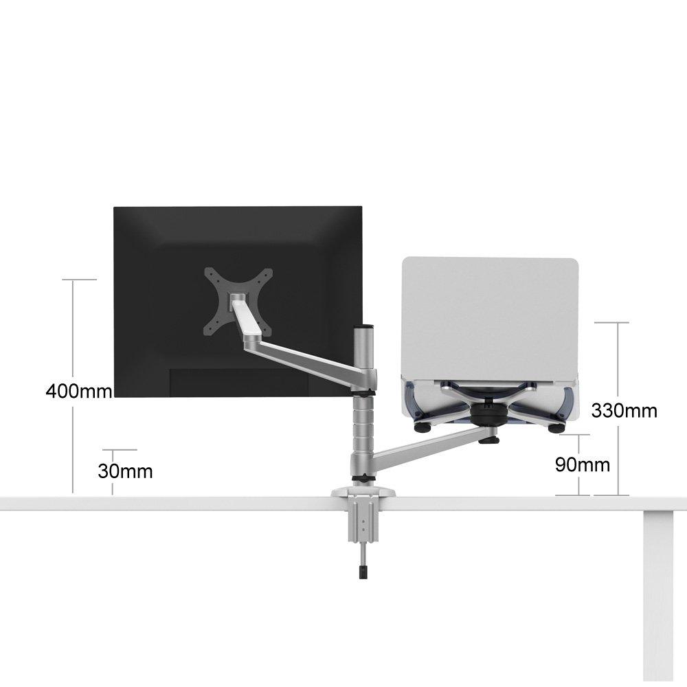Opus 2 344360 Bras pour 10–15 ordinateur portable et 63 -5 cm écran LCD Moniteur