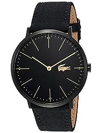 Lacoste Men's 2010915 Luxury Moon Ultra Slim Black Nylon Strap Watch